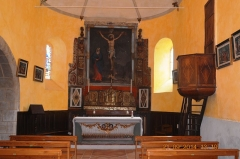 Eglise Saint-Pierre-d'Aurions - English: Church of Saint Pierre interior