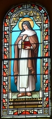 Eglise Saint-Pierre-d'Aurions - English: Stained Glass in the Church