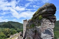 Ruines du château de Fleckenstein - Deutsch: Blick von Süden auf die Burg