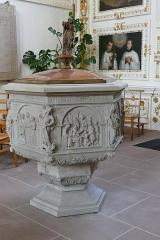 Ancienne église des Jésuites, ou église catholique Saint-Georges - Français:   Alsace, Bas-Rhin, Église Saint-Georges de Molsheim, ancienne église des Jésuites (1618) (PA00084798, IA67006097).  Fonts baptismaux (1624):        This object is classé Monument Historique in the base Palissy, database of the French furniture patrimony of the French ministry of culture,under the referencesPM67000751 and IM67009671. беларуская (тарашкевіца)| brezhoneg| català| Deutsch| English| español| suomi| français| magyar| italiano| македонски| Plattdüütsch| português| українська| +/−