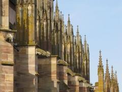 Eglise catholique Saint-Florent -  Alsace, Bas-Rhin, Niederhaslach, Collégiale Saint-Florent: (PA00084831, IA67011296, IA67011295): Gargouilles façade sud.