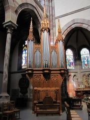 Eglise paroissiale Saint-Pierre-et-Paul -  Alsace, Bas-Rhin, Obernai, Église Saints-Pierre-et-Paul (PA00084850, IA00023930).    Orgue de chœur Yves Koenig (1992): http://decouverte.orgue.free.fr/orgues/Orgue de chœur, Obernai