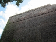 Ruines du château de Lutzelbourg - English: mantlet wall, seen from north