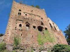 Ruines du château de Rathsamhausen - English: the castle's southern side