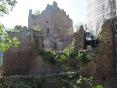 Ruines du château de Rathsamhausen - English: the castle's eastern side