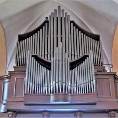 Monastère de Sainte-Odile, au Mont-Saint-Odile -  Alsace, Bas-Rhin, Ottrott, Basilique du Mont Sainte-Odile (PA00084884, IA00075612).    Orgue Roethinger (1964): http://decouverte.orgue.free.fr/orgues/Orgue du Mont Sainte-Odile
