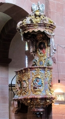 Ancienne église abbatiale - This object is classé Monument Historique in the base Palissy, database of the French furniture patrimony of the French ministry of culture,under the referencesPM67000257 and IM67003635.