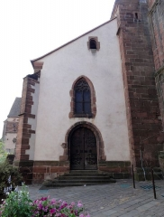 Eglise paroissiale Notre-Dame-de-la-Nativité -  Alsace, Bas-Rhin, Saverne, Église Notre-Dame-de-la-Nativité (PA00084954, IA00055464): Portail latéral.