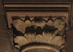 Cathédrale Notre-Dame - Alsace, Bas-Rhin, Cathédrale Notre-Dame de Strasbourg (PA00085015). Chapiteau roman du croisillon nord