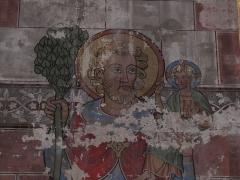 Eglise protestante Saint-Pierre-le-Jeune - Alsace, Bas-Rhin, Église protestante Saint-Pierre-le-Jeune de Strasbourg (PA00085030): Ancien chœur catholique (église simultanée). Fresque murale néo-gothique (XIXe) dans le chœur