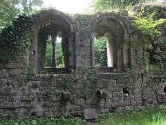 Ancien domaine de Windeck, dit Foyer de Charité - English: windows taken from Guirbaden Castle