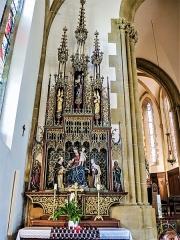 Eglise catholique Saint-Bernard-de-Menthon - Français:   Autel et retable de la Vierge