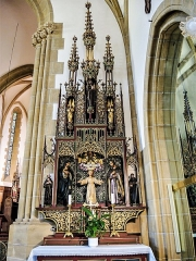Eglise catholique Saint-Bernard-de-Menthon - Français:   Autel et retable du Christ