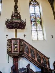 Eglise catholique Saint-Bernard-de-Menthon - Français:   Chaire de l\'église