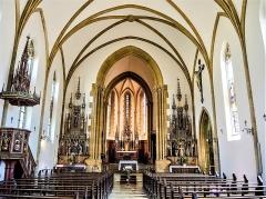 Eglise catholique Saint-Bernard-de-Menthon - Français:   Nef de l\'église