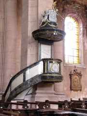 Abbaye - Français:   Alsace, Haut-Rhin, Église abbatiale Notre-Dame de Guebwiller (1768-1785), place Jeanne-d\'Arc (PA00085438, IA00054832). Chaire à prêcher (XVIIIe):       This object is classé Monument Historique in the base Palissy, database of the French furniture patrimony of the French ministry of culture,under the referencesPM68000088 and IM68000227. беларуская (тарашкевіца)| brezhoneg| català| Deutsch| English| español| suomi| français| magyar| italiano| македонски| Plattdüütsch| português| українська| +/−
