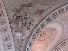 Abbaye - Alsace, Haut-Rhin, Église abbatiale Notre-Dame de Guebwiller (1768-1785), place Jeanne-d'Arc (PA00085438, IA00054832). Relief