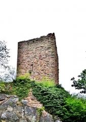 Ruines des châteaux de Weckmund et de Wahlenbourg - Français:   Tour ruinée du château de Weckmund