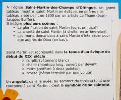 Chapelle Saint-Martin (chapelle du cimetière) - Français:   Panneau informatif