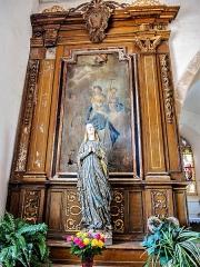 Chapelle Saint-Martin (chapelle du cimetière) - Français:   Autel et retable de la Vierge