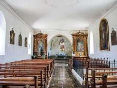 Chapelle Saint-Martin (chapelle du cimetière) - Français:   Nef de Saint-Martin-des-Champs d\'Oltingue
