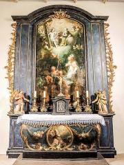 Chapelle Saint-Martin dite Hippoltskirch - Français:   Autel et retable de droite.
