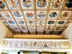 Chapelle Saint-Martin dite Hippoltskirch - Français:   Plafond et balustrade de la tribune, peints.