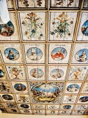 Chapelle Saint-Martin dite Hippoltskirch - Français:   Plafond peint de la chapelle Saint-Martin de Hippoltskirch