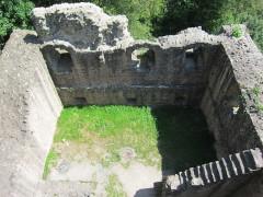 Ruines du château de Hagueneck - English: the palas seen from above, looking northeastwards