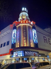 Cinéma Rex - English: Madonna at the Grand Rex in Paris for the Madame X Tour in March 2020