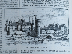 Enceinte de Philippe-Auguste - English: Louvre castle at the time of the king Charles V. From the paragraph about the Louvre in the Nouveau Larousse Illustré (1894-1904).