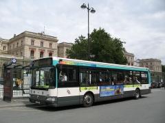 Gare de l'Est - English:   RATP city bus route n°46 at Gare de l\'Est bus stop_Paris_France
