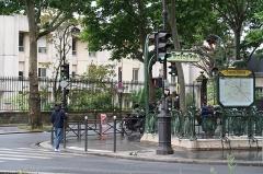 Métropolitain, station Chardon-Lagache - Français:   Bouche de la station de métro Chardon-Lagache, rue Chardon-Lagache (Paris, 16e).