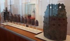 Musée Guimet - Français:   Bianzhong exposé au musée Guimet, à Paris