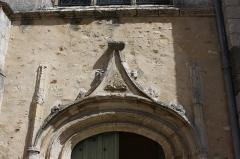 Eglise Saint-Nicolas - Deutsch:   Katholische Pfarrkirche Saint-Nicolas in Saint-Arnoult-en-Yvelines im Département Yvelines in der Region Île-de-France (Frankreich), Seitenportal aus dem 16. Jahrhundert, mit Kielbogen.
