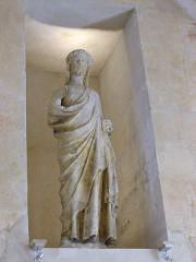 Ancien couvent des Bernardins - Français:   Statue, Collège des Bernardins