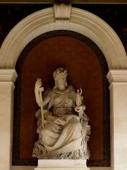 Sorbonne (La) - Péristyle de La Sorbonne, Paris (75005). La République.