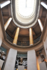 Palais de l'Institut (ancien collège des Quatre-Nations) - English: Staircase of Bibliothèque Mazarine located in the 6th arrondissement of Paris in France.