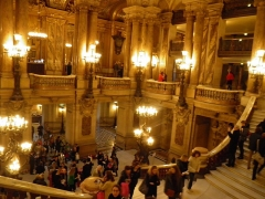 Théâtre national de l'Opéra, dit opéra Garnier - Intérieur de l'opéra Garnier à Paris (Île-de-France, France).