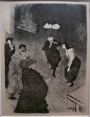 Théâtre des Folies-Bergère - Español: Litografía para el álbum Le Café-Concert (1893).