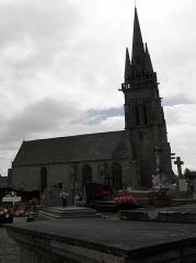 Eglise Notre-Dame - Français:   Flanc nord de l\'église Notre-Dame à Grâces (22).