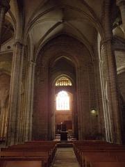 Eglise Notre-Dame du Bon-Secours - Vue vers l'occident du chœur de la basilique Notre-Dame de Bon-Secours de Guingamp (22).