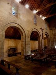 Chapelle de Perguet - Français:   Chapelle Sainte-Brigitte de Perguet en Bénodet (29). Costale nord de la nef et collatéral adjacent.