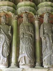Eglise Notre-Dame - Porche sud de l'église Notre-Dame de Bodilis (29). Saint-Simon.