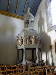 Eglise Notre-Dame - Fonts baptismaux de l'église Notre-Dame de Bodilis (29).