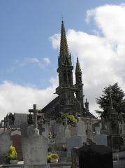 Eglise Notre-Dame et Saint-Tugen - Façade occidentale de l'église Notre-Dame et Saint-Tugen de Brasparts (29).