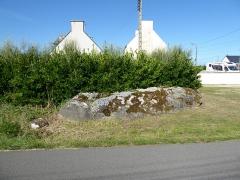 Menhir anthropomorphique de Kerdeval - Français:   Menhir de Kervédal