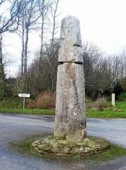 Stèle protohistorique dite Le Fuseau ou La Quenouille de Sainte-Barbe - Français:   La stèle protohistorique de Ploeven, dite \