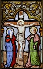 Cathédrale Saint-Corentin -  Baie 7 de la cathédrale Saint-Corentin à Quimper dans le Finistère. 4ème lancette, 3ème registre. La Crucifixion. Mystère douloureux.