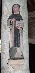Chapelle du Moustoir - Français:   Statue de saint Fiacre dans le chapelle Saint-Maurice du Moustoir en Kernével (commune de Rosporden, Finistère, Bretagne, France).